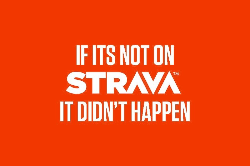 If its not on Strava it didn't happen Banner