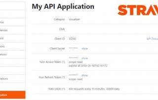 Starva My API application form view