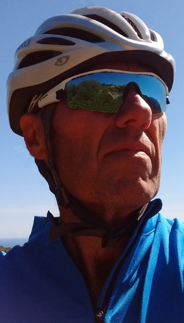 David Ellis against a blue sky