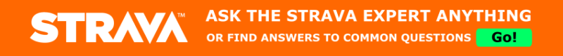 Strava ask the expert banner