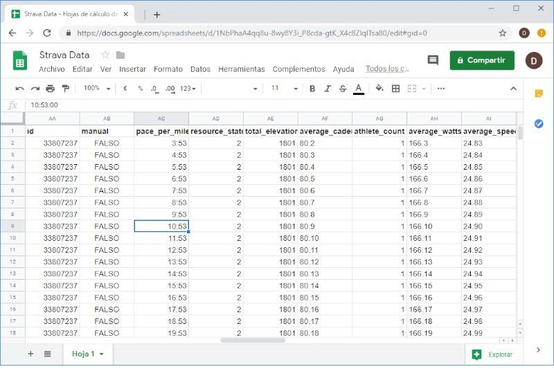 Automatically get your Strava Data into Google Sheets