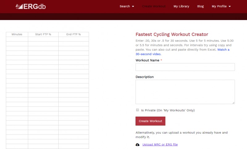Over 4000 Free cycling workouts to print or download to Garmin or