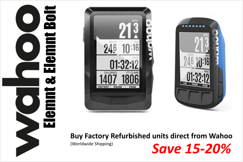 Save up to 20% on Wahoo Elemnt and Wahoo Elemnt Bolt